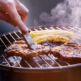 Vlees met een streepje