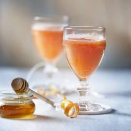 Groene thee met grapefruit en honing
