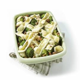 Bloemkool-broccolischotel met brie