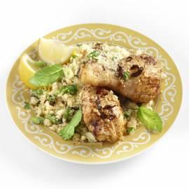 Kip met couscous, citroen en munt