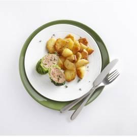 Koolpakketjes met gebakken aardappels