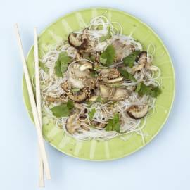 Mihoen met shiitakes en oesterzwammen