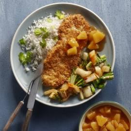 Oosterse schnitzel met sambal en sesam