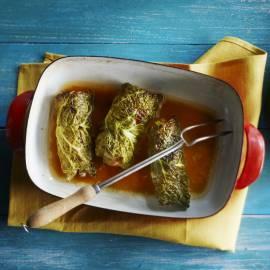 Parmaschnitzels in groenekool