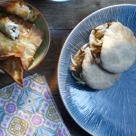Pitabroodjes met shoarma en koolsalade