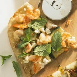 Pizza Gamba's & Zucchini