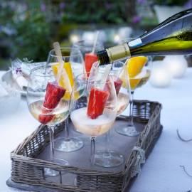 Prosecco met fruitijsjes