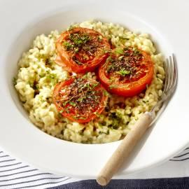 Risotto met gepofte tomaat en kaas