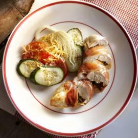 Romeinse kipfilet met groentengratin