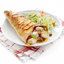 Tortilla's met kabeljauw en paprika