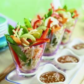Chinese salade met sesamdressing