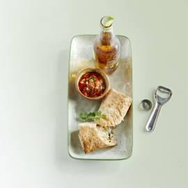 Visburrito met tomatensla