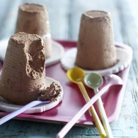 Chocolade-amaretto semifreddo