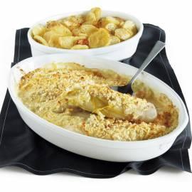 Witlofschotel met kaas en mosterd