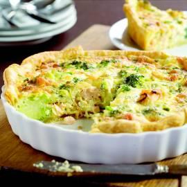 Zalm-broccolitaart
