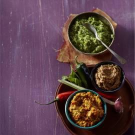 Zelfgemaakte groene currypasta