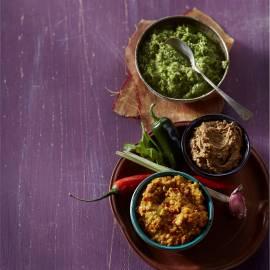 Zelfgemaakte rode currypasta