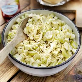 Coleslaw met appel en druiven