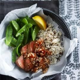 Biefstuk met gember-sesamjus