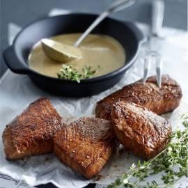 Biefstuk met peper en tijm