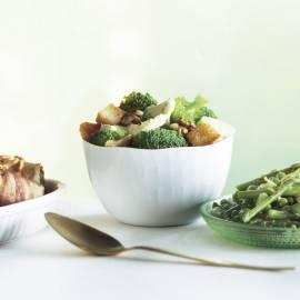 Broccoli met walnoten en blauwe kaas