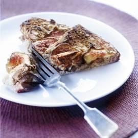 Bread & butterpudding met  vijgen