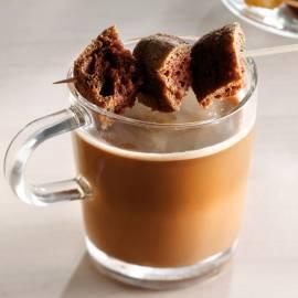 Choco-espresso met koekstick