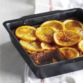 Chocoladetaart met gekonfijte sinaasappel