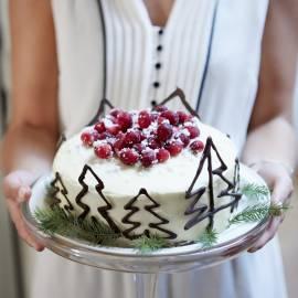 Karamel-kerstcake