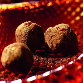 Chocoladetruffels met chili