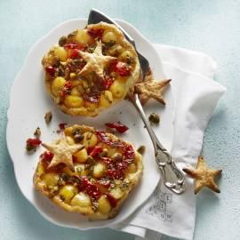 Krieltjestaartje met pistache en tomaat