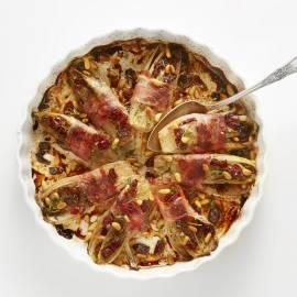 Gesmoorde witlof met pancetta en cranberry's