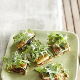 Courgettegratin met tomaat en olijven