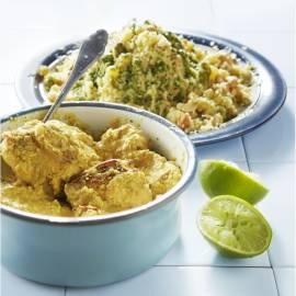 Kipcurry met cashew-couscous