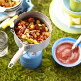 Frans pannetje met tomatensaus