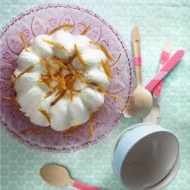 Witte-chocolademousse met sinaasappel