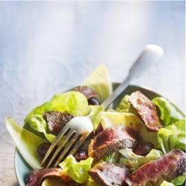 Gegrilde entrecote met balsamicojus en salade