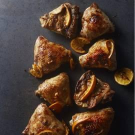 Geroosterde kip met cacao en sinaasappel