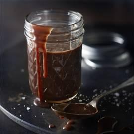 Choco-fudgesaus met zeezout