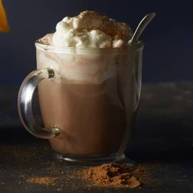 Romige chocolademelk