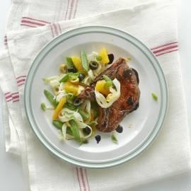 Ribkarbonade in balsamicojus