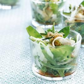 Groene salade met appel-balsamicodresssing