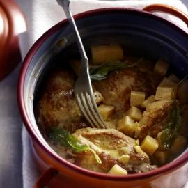 Hamlapjes met selderij en salie