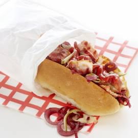 Hotdog speciaal met ketchup