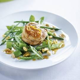 Kalfsoester met groenebonensalade