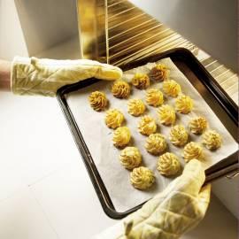 Pureetorentjes met mosterd en bieslook