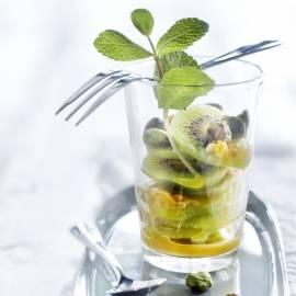 Kiwi-ijsjes met passievrucht en munt