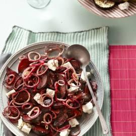 Geroosterde bietensalade met feta