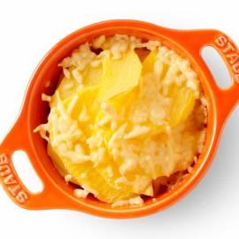 Koolraap gegratineerd met kaas