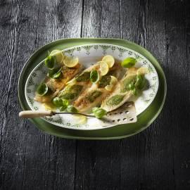 Krokante tilapia met basilicum